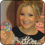 Helen Skelton from Blue Peter with Bugs Badge